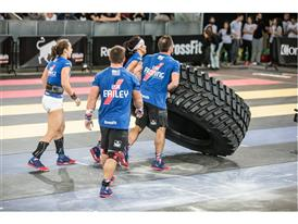 Team USA Flips Tire