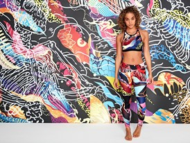 Jasmine Sanders in Reebok x Eaton Design
