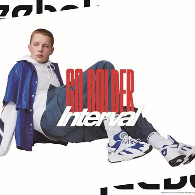 リーボックのスポーツヘリテージモデル「INTERVAL」より、鮮やかなブルー×ホワイトの日本限定カラーを含む2020年秋冬新色モデルが2020年7月24日(金)より発売
