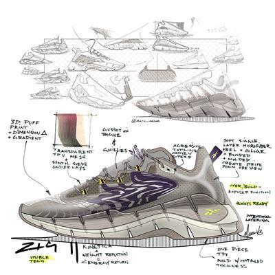 Reebok SS21 Zig Kinetica II - Launch Sketch