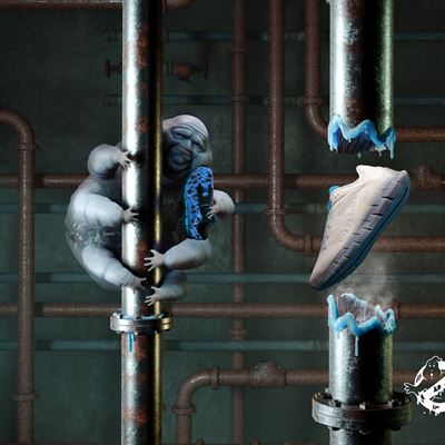 Reebok x Ghostbusters Horizontal Zig Kids