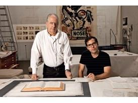 William Kentridge and Mateo López at William Kentridge's studio in Houghton, Johannesburg.