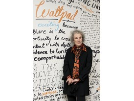 Literature mentor Margaret Atwood at the Wattpad office in Toronto.