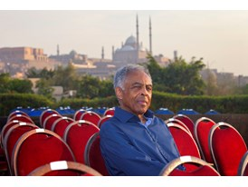 Gilberto Gil during rehearsals for the 5th Cairo Jazz Festival at Al-Azhar Park, Cairo.