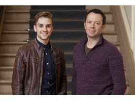 Alexei Ratmansky, mentor and Myles Tatcher, protégé (left)