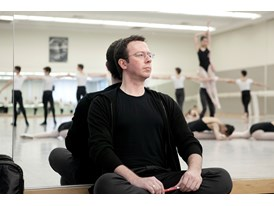 At the Chris Hellman Center for Dance in San Francisco, mentor Alexei Ratmansky watches a ballet choreographed by protég