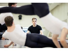 At the Chris Hellman Center for Dance in San Francisco, protégé Myles Thatcher observes dancers from the San Francisco B