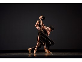 "Dancers Norika Matsuyama and Steven Morse perform protégé Myles Thatcher's ballet ""Manifesto"", which premiered in San Fr"