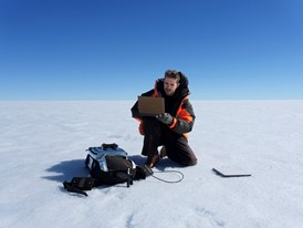 Young Laureate Joseph Cook on a Greenland research expedition.