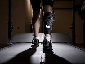 Laboratory tests of the exosuit at the Wyss Institute for Biologically Inspired Engineering, Harvard University.