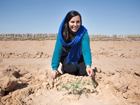 Young Laureate Sarah Toumi explores the potential for growing acacia trees at Menzel Habib in Tunisia.