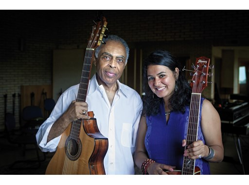 Gilberto Gil, mentor and Dina El Wedidi, protégée.