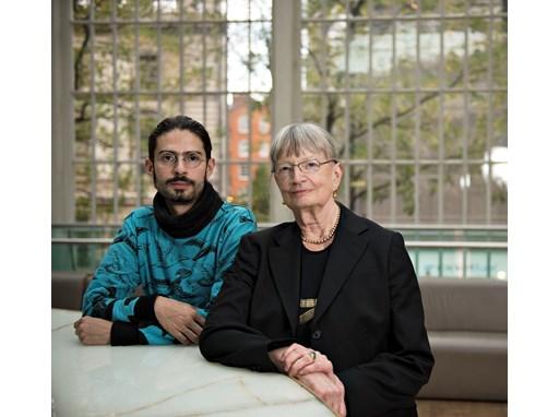 Mentor Jennifer Tipton and protégé Sebastián Solórzano Rodríguez at the Royal Opera House, London.