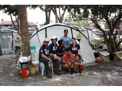 ShelterBox volunteers help after the Thailand floods in 2011