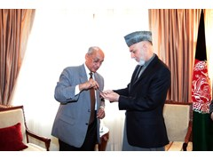 Rotary International President Kalyan Banerjee and Afghan President Hamid Karzai Meet in Support of Polio Immunization Efforts