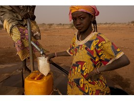 Women Draw Water from a Rotary Funded Well in Kouré, Niger