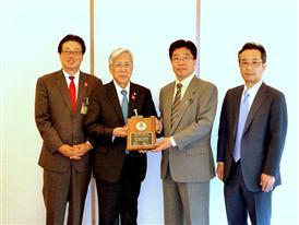 Rotary recognizes Japanese Prime Minister