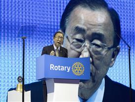 Ban Ki-moon, UN Secretary-General, addresses Rotary members