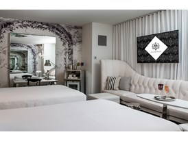 Guests at the SLS Las Vegas enjoy a true interactive TV experience in their rooms, created in partnership with Samsung,
