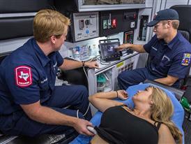 Bedford Medics with Patient