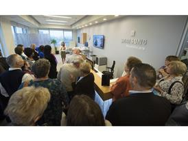 Proud Samsung employees and their parents learn about the latest advances in medical technology
