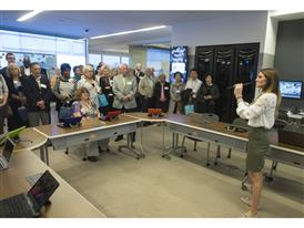 Proud Samsung employees and their parents learn about the latest advances in education technology
