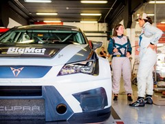 The CUPRA Team gets ready for the 24 Hours of Barcelona