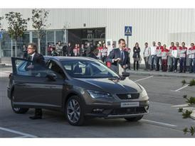 Visit by King Felipe VI of Spain culmination of SEAT Ibiza's 30th anniversary 13