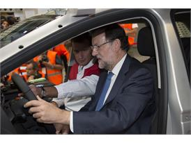 Mariano Rajoy observes the company