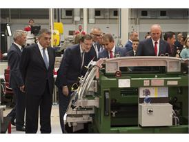 Spanish Prime Minister Mariano Rajoy Observes the Technological Resources