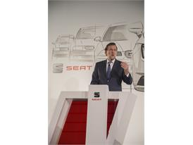 Spanish Prime Minister, Mariano Rajoy, announces that SEAT is going to spend 3.3 billion euros between 2015 and 2019 (2)