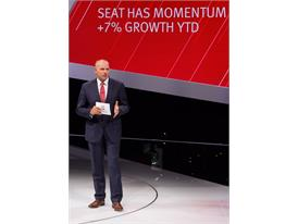 Chairman of the Executive Committee of SEAT, Jürgen Stackmann during the press conference at Frankfurt Motor Show 2015