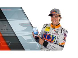Laia Sanz, SEAT ambassador and protagonist of the 24hr Barcelona de Automovilismo-Trofeo Fermí Vélez presents the App