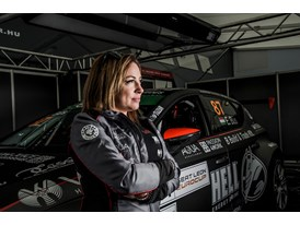 Edina Bús is one of the five female drivers competing in the SEAT Eurocup
