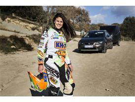 The Dakar's fastest female reveals that her dream would be to compete in the race in a car