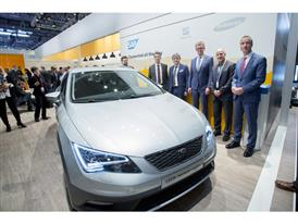 SEAT Executive Committee President Luca de Meo with SAP SE Executive Committee member, Products and Innovation Bernd Leu