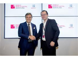 SEAT - Executive Committee President Luca de Meo and the CEO of Mobile World Capital Aleix Valls, at the MWC