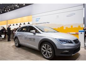SEAT Leon X-PERIENCE, at the SAP stand, 11th edition of Mobile World Congress (MWC)