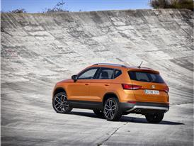 The New SEAT ATECA, exterior, static shot, 3/4 rear view