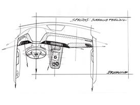 The New SEAT ATECA, interior design sketch