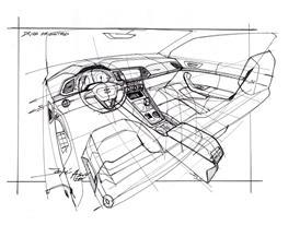 The New SEAT ATECA, interior design sketch