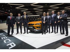 Board Members of Executive Committee of SEAT with the new SEAT ATECA at Geneva Motorshow