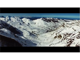 Aerial image of Pasiega mountain (Cantabria)