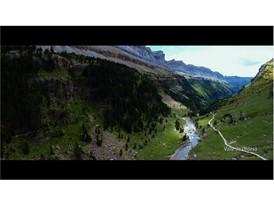 Aerial image of Ordesa valley (Aragon)