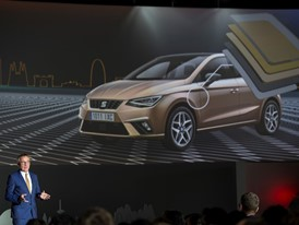 SEAT Vice-president for production, Dr. Andreas Tostmann, presents the New SEAT Ibiza