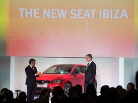 President of SEAT, Luca de Meo and SEAT Vice-president for R&D Dr. Matthias Rabe presenting the New SEAT Ibiza