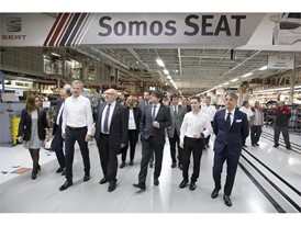 Catalonia's government President visits the Ibiza and Leon assembly line at SEAT's factory