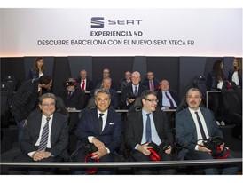 Delegate of the Government in Catalonia Enric Millo, Luca de Meo, Spanish Minister for Energy Álvaro Nadal, and Deputy M