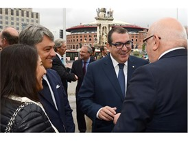 Luca de Meo, president of SEAT, and Jordi Jané, Minister of Home Affairs Generalitat de Catalunya