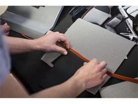 For this car around 50 metres of exclusive houndstooth pattern fabric was created